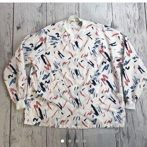 Vintage 80's lightweight bomber jacket blue pink